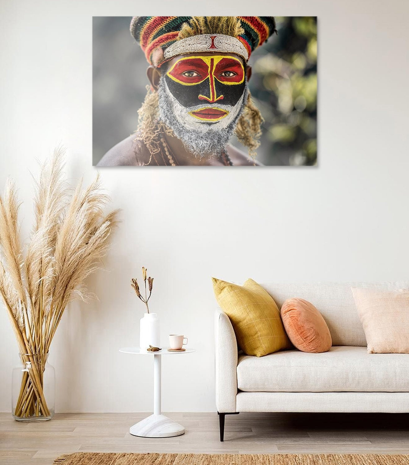Ethnic art photo on aluminium for wall decoration