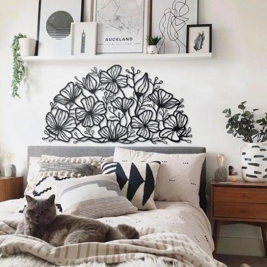 Décoration art métallique de fleurs pour votre décoration murale