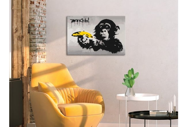 Pop art banksy painting by number for design lovers