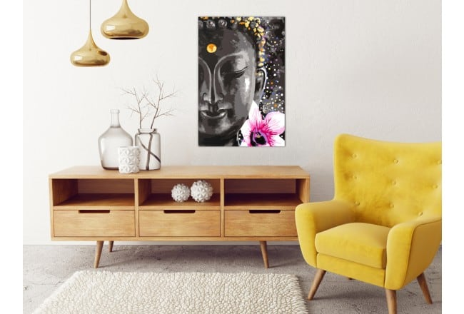 Buddha painting by number decoration for a diy wall canvas
