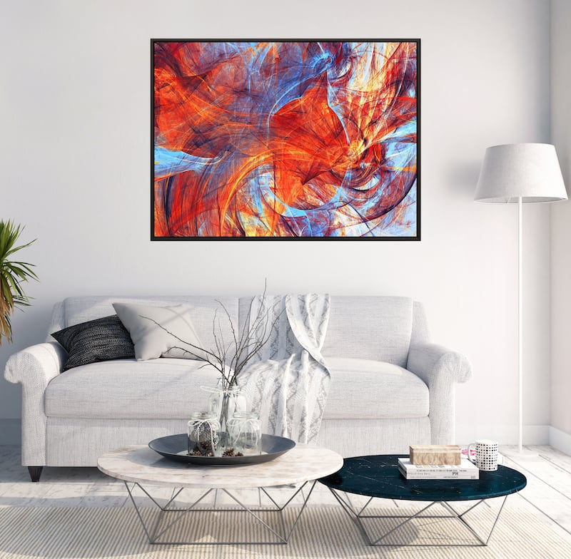 Mystic modern canvas print for wall decoration