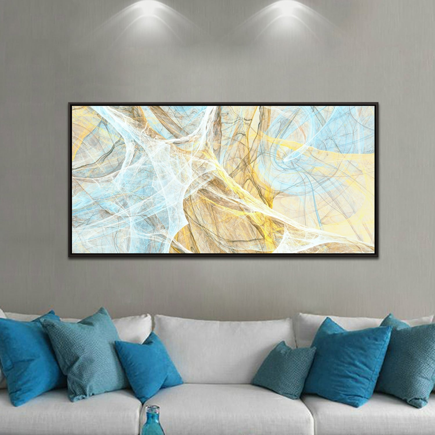 Antares abstract framed canvas for a design decoration