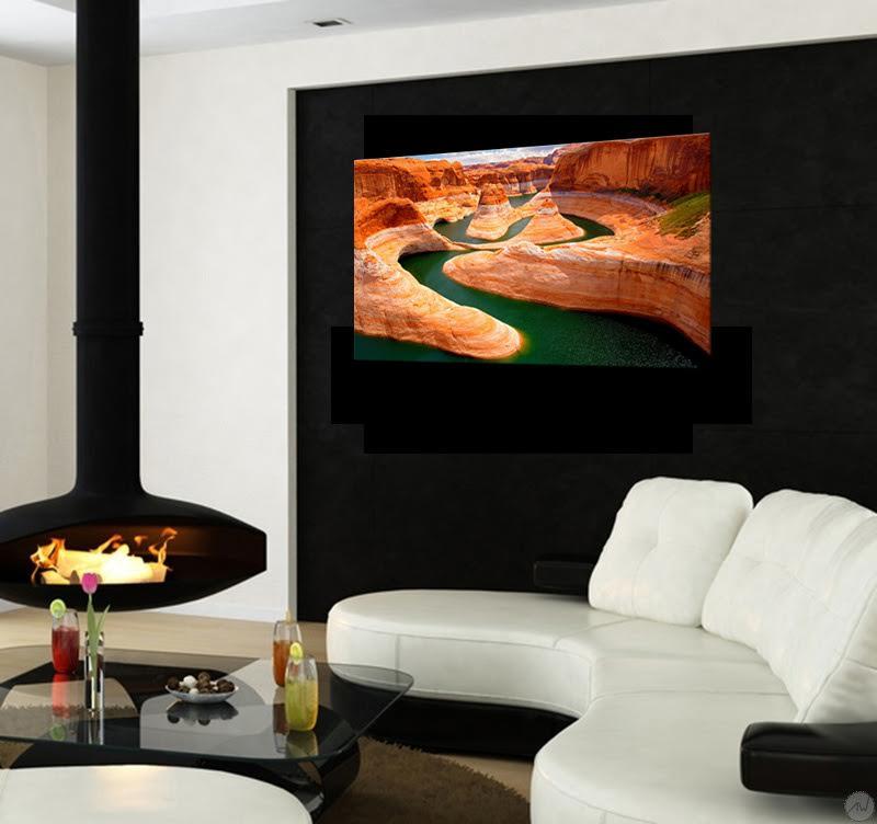 Notre tableau paysage design du Grand Canyon dans un salon moderne