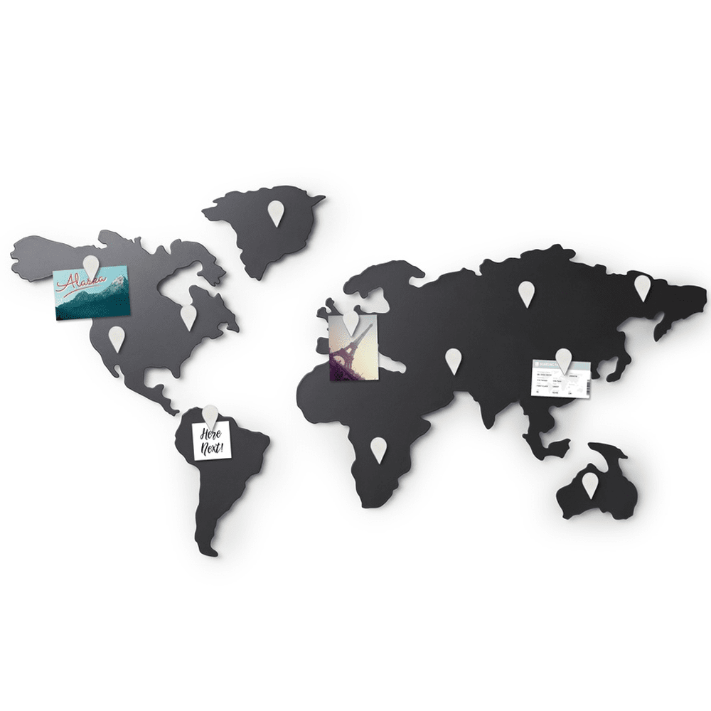 Design world map wall decoration for a modern interior