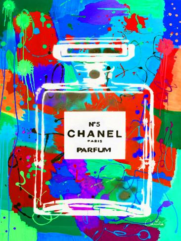 Tableau moderne chanel numéro 5 pour une version pop art du parfum