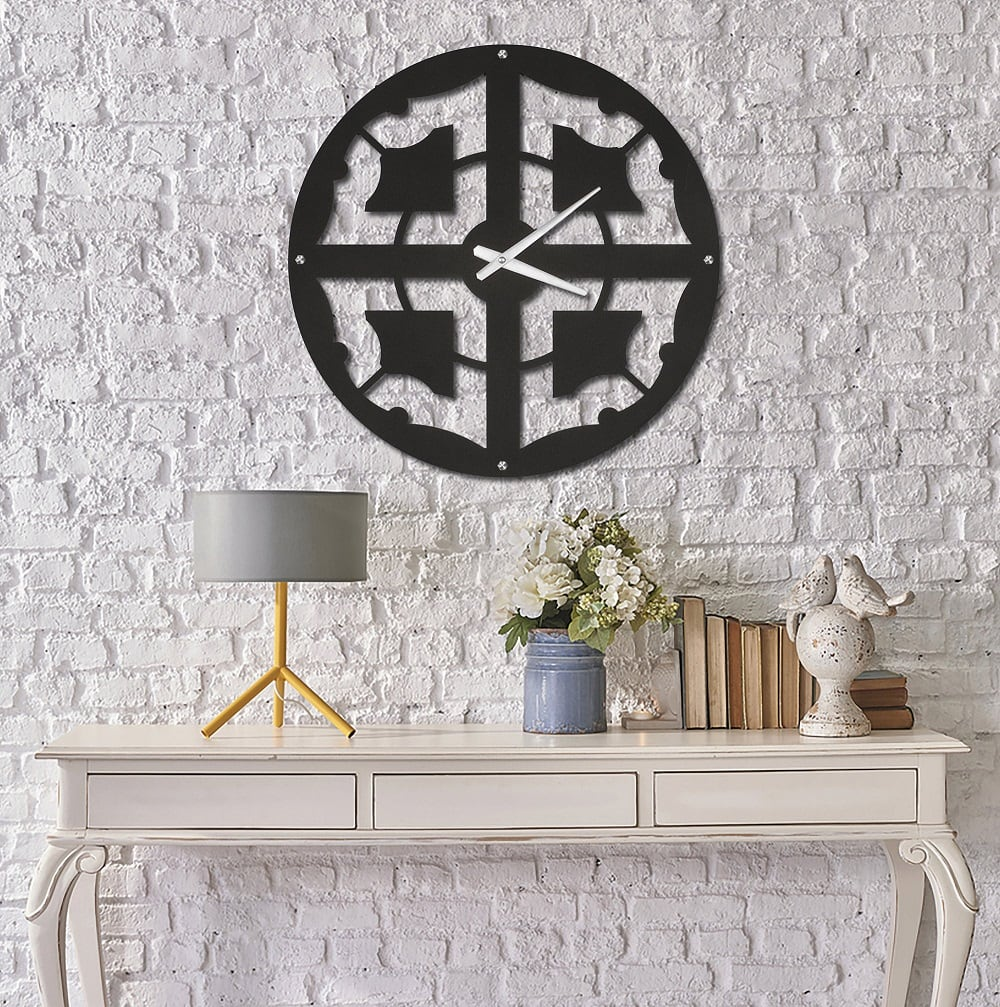 Chic metal wall clock for interior design