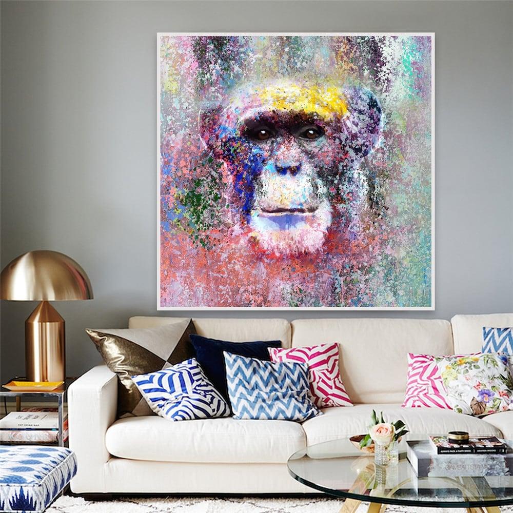 Peinture d'artiste haut de gamme de chimpanzé moderne