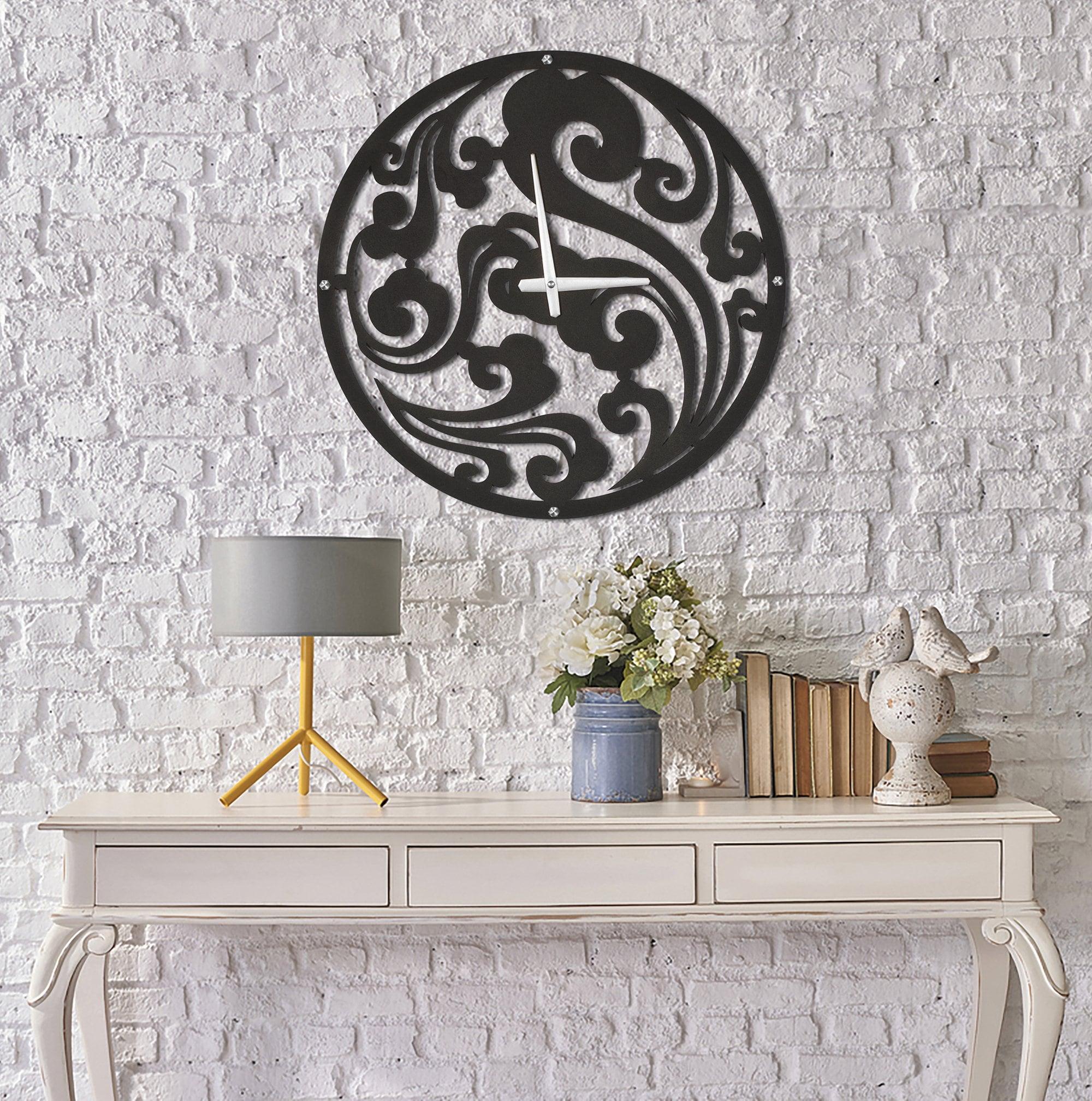 Metal cloud wall clock for a unique interior decoration