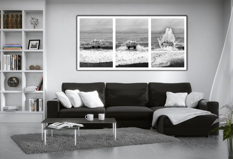 nice sous les vagues cadre alu artwall and co. Black Bedroom Furniture Sets. Home Design Ideas