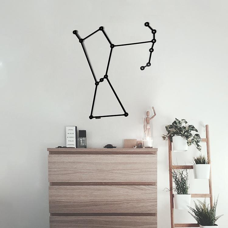 Constellation d'Orion en décoration murale bois pour votre intérieur