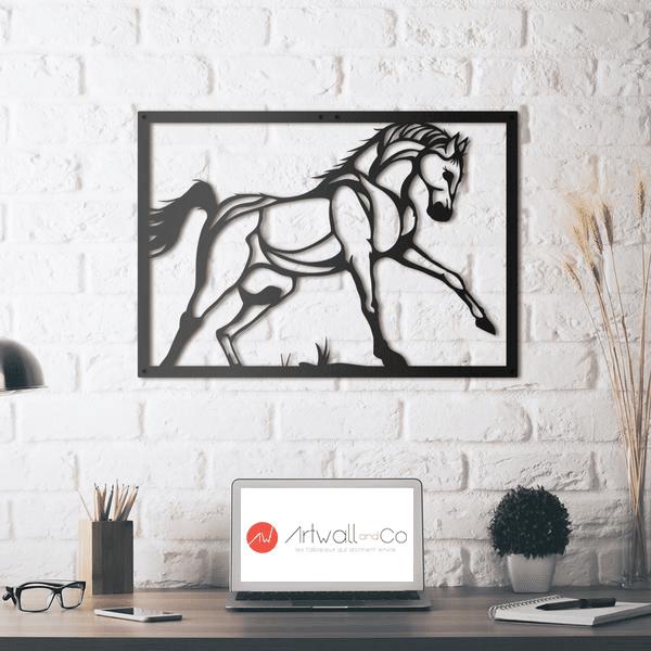 Décoration murale métal design de notre cheval artwall and co
