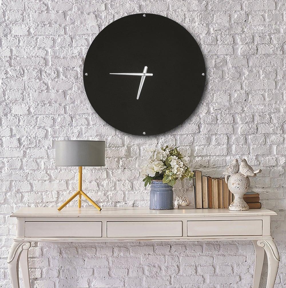 Horloge murale métal dark pour une touche moderne sur votre mur