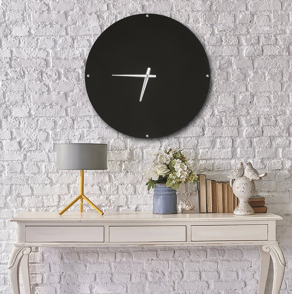 Wall metal clock for a black touch into your interior