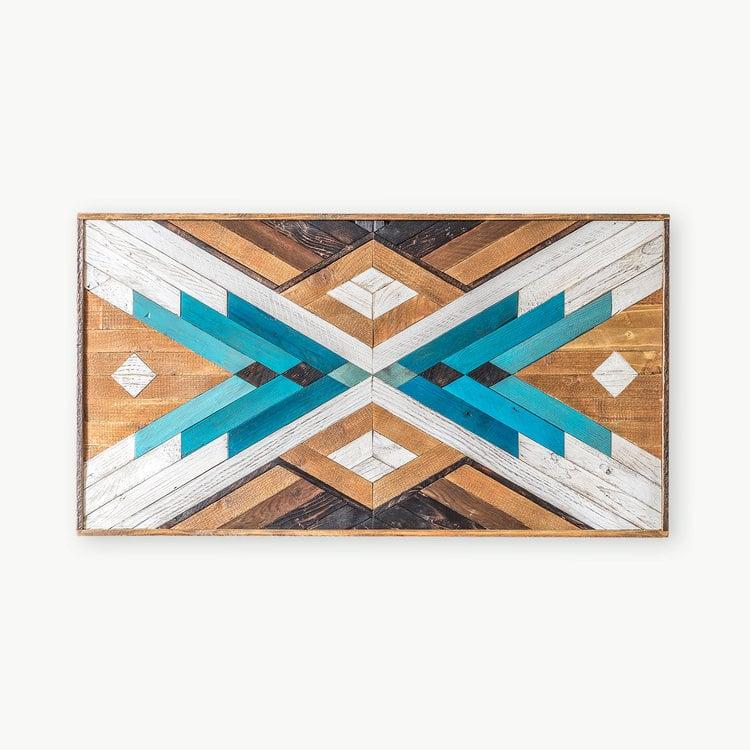 Decoration murale bois bees pour un style boho et geometrique par nos designers
