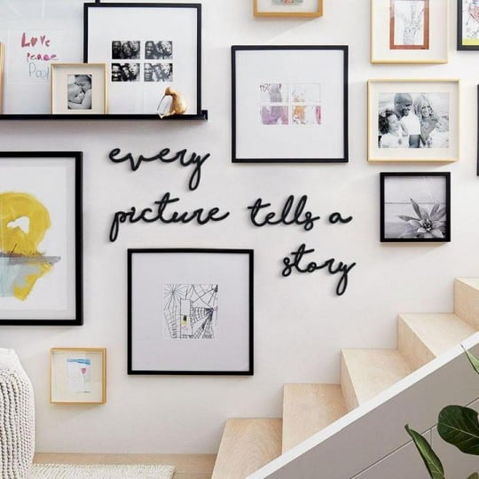 Every picture tells us a story metal design decoration for framed photos