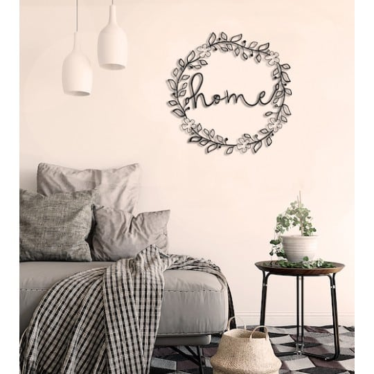 Home flowers metal wall decoration for an original interior