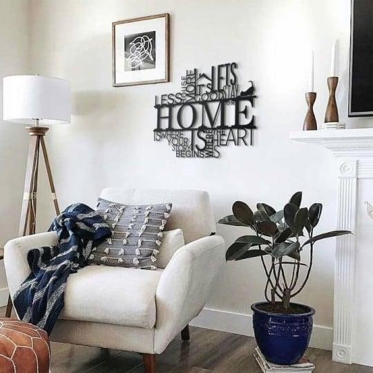 Home metal decoration inspiration for a boho chic interior