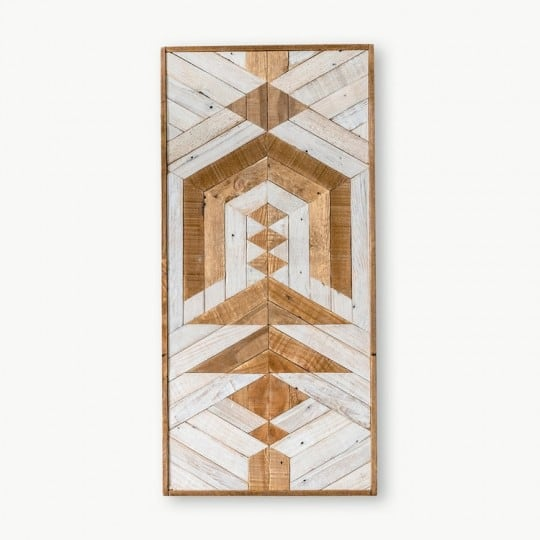 Boho wood wall decoration for a unique artwork into your home