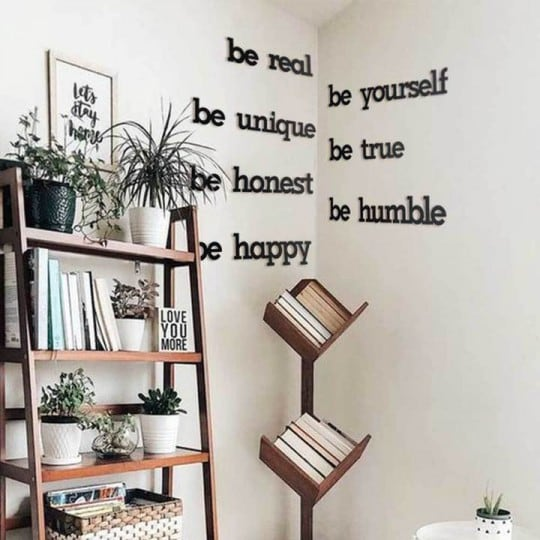 Beyourself metal wall decoration for a unique interior