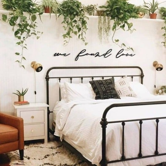 Found love metal wall decoration for trendy interior