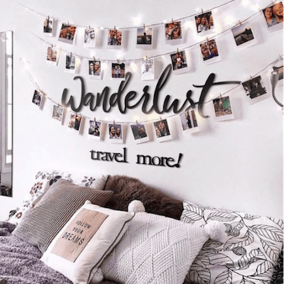 Wanderlust metal wall decoration for an unique interior