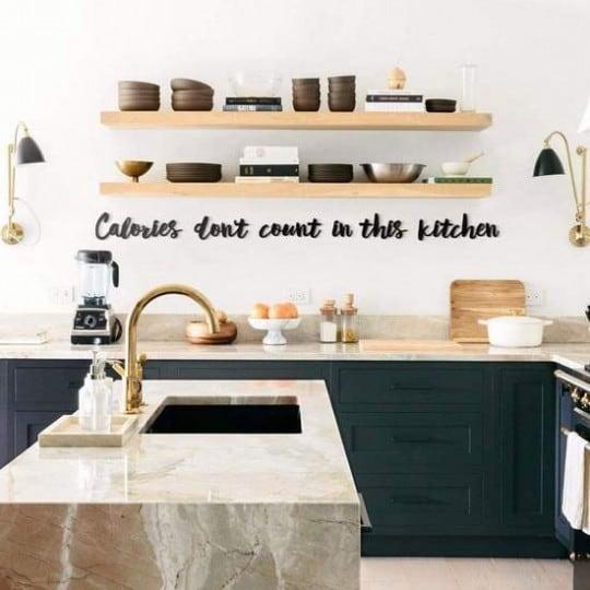 Décoration murale métallique de calories pour le design de votre cuisine