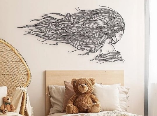 Eco friendly wall decoration Tethys with a design touch for interior