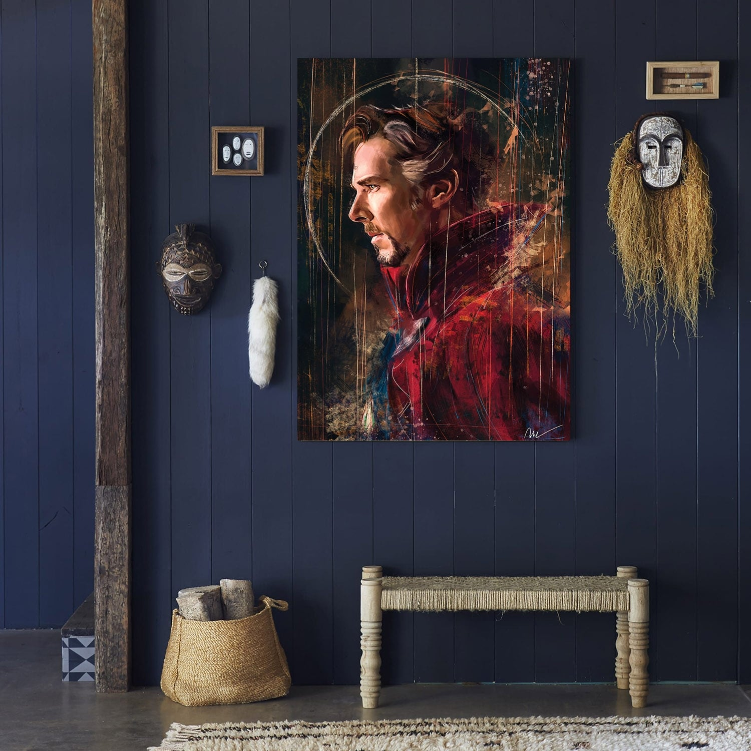 Dr strange modern canvas print for wall decoration