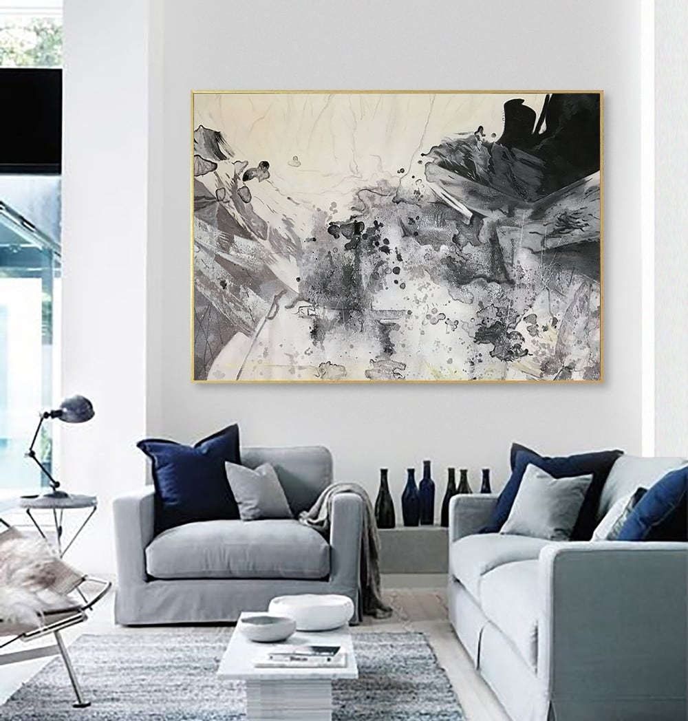 Ink wall painting for a unique interior