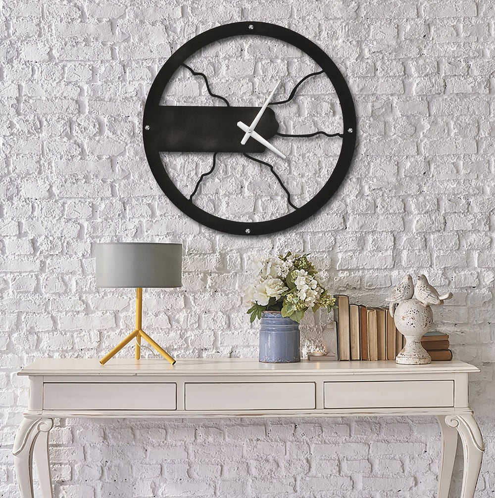 Gale modern wall clock metal for a unique interior