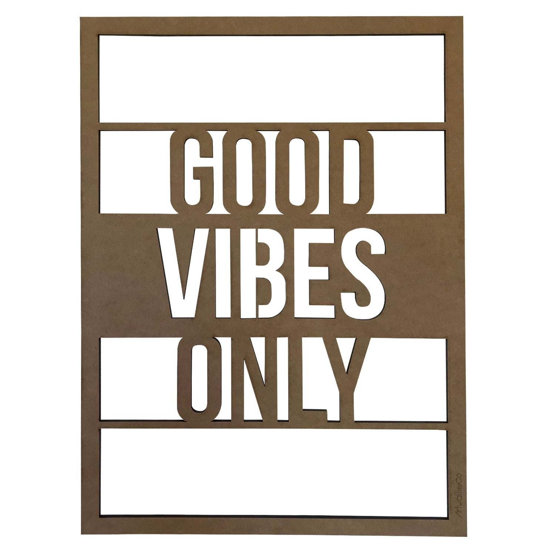 Décoration murale bois design good vibes only pour votre salon