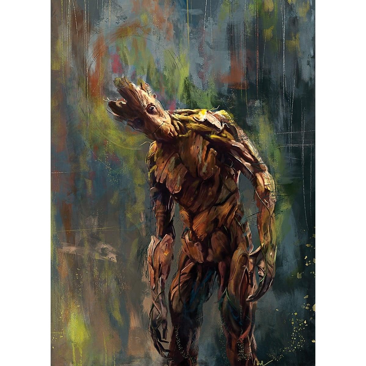 Tableau moderne de groot le personnage des gardiens de la galaxie