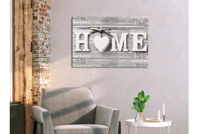 Peinture par numéro adulte home avec un coeur pour une décoration murale moderne