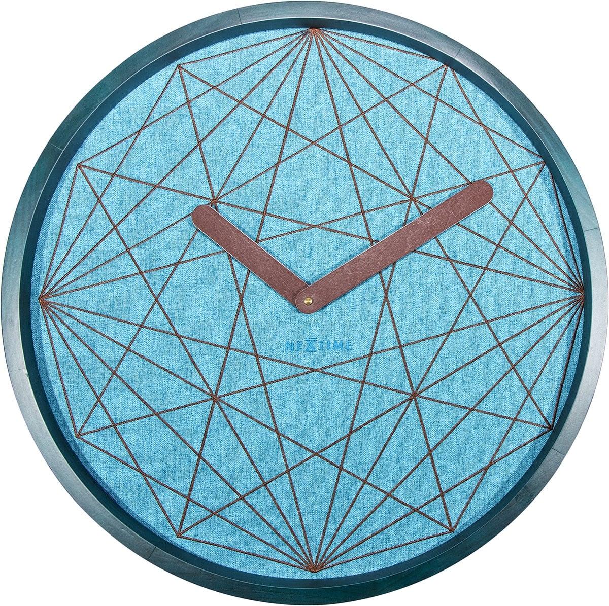 Blue geometric wall clock for design decoration