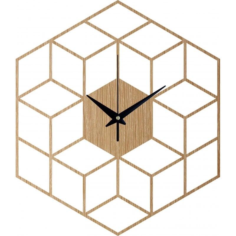 Horloge murale bois moderne avec un style cubic pour votre déco intérieure