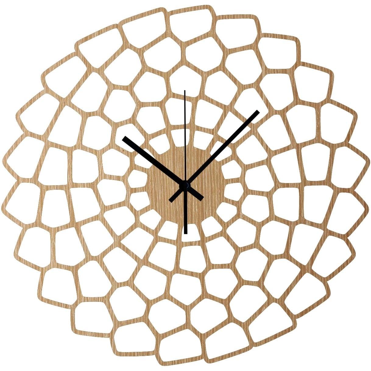 Horloge murale bois diagram pour une déco murale unique