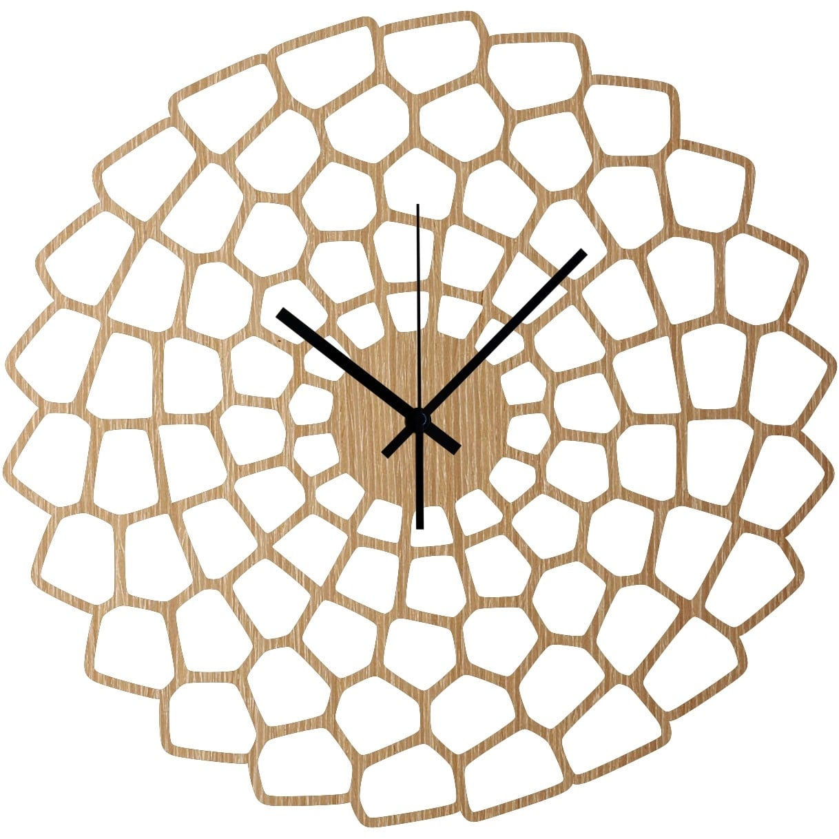 Diagram wood wall clock for a trendy wall interior decoration