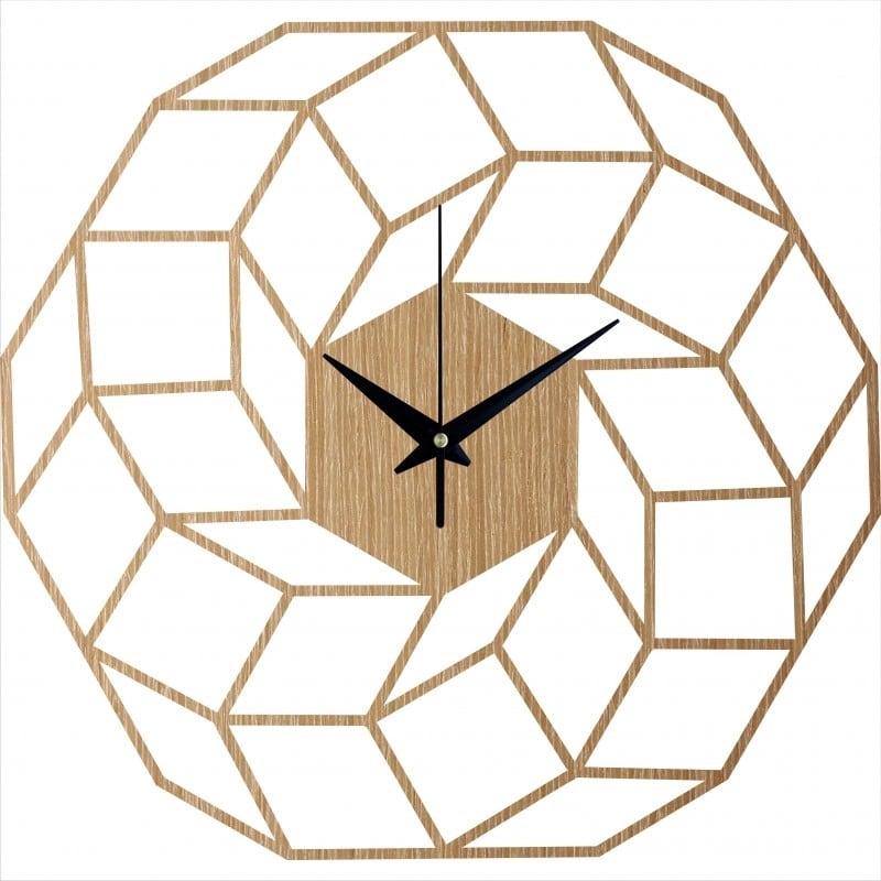 Horloge murale bois dreamcatcher pour une décoration intérieure tendance