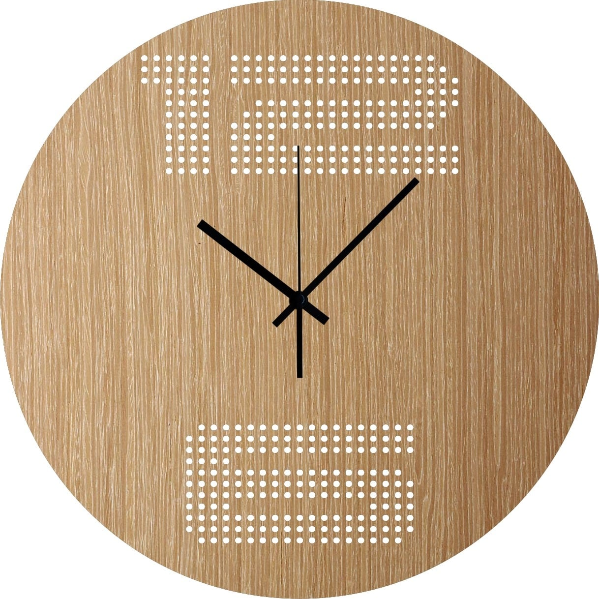 Scandinavian wood wall clock for interior decoration