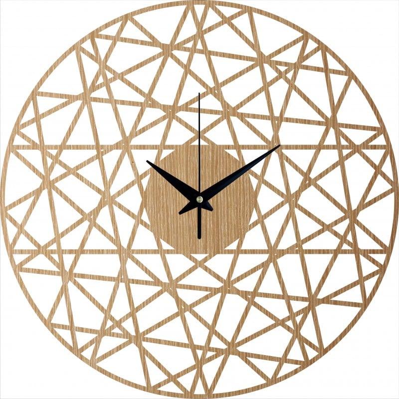 Horloge murale bois design pour un salon ou une cuisine design