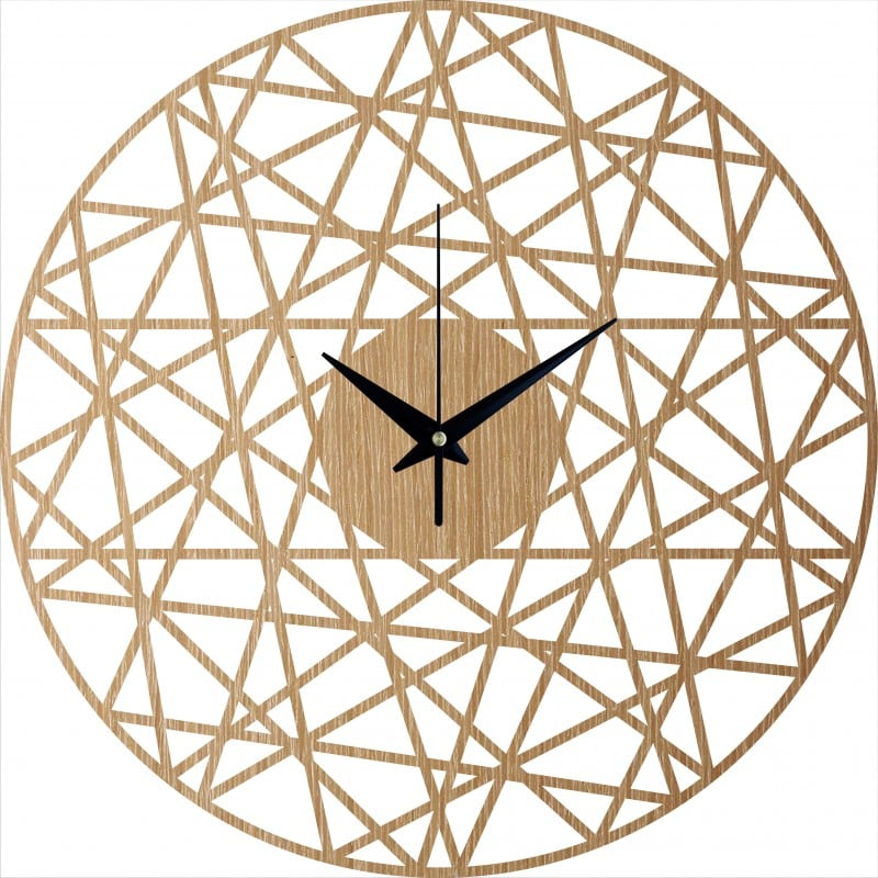 Modern wood wall clock for a trendy and modern interior