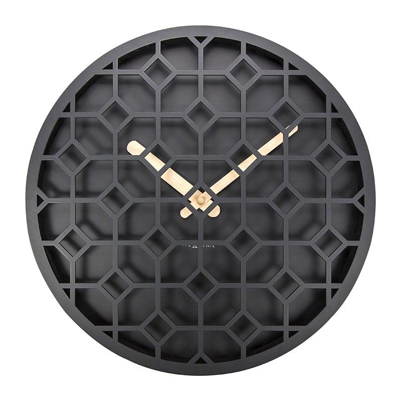Horloge murale moderne noire pour un intérieur tendance