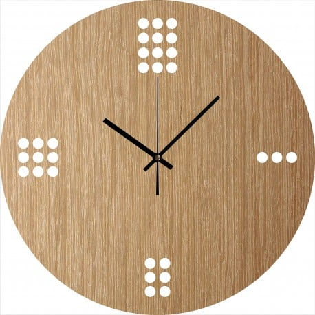 Minimalist wooden wall clock decoration for interior