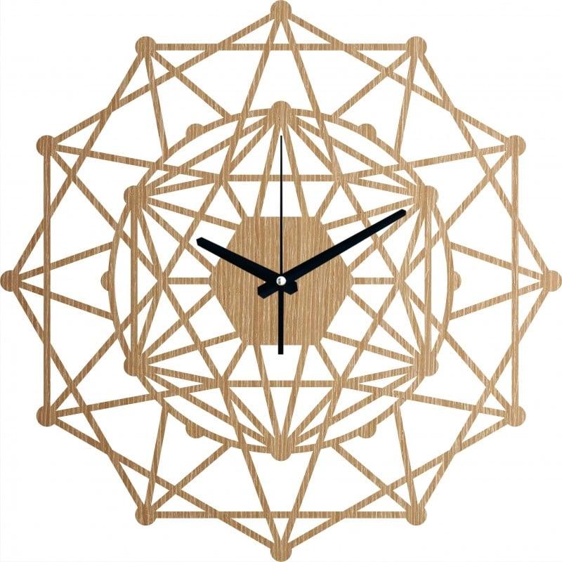 Horloge murale bois kaleidoscope pour une décoration murale unique