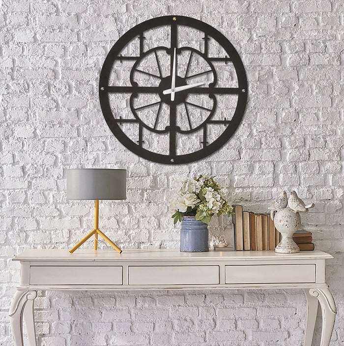 Modena wall clock for design interior with orignal style