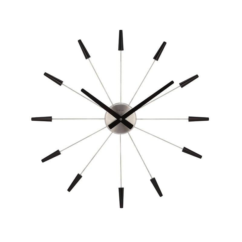 Horloge murale design avec de grandes tiges noires pour voter décoration
