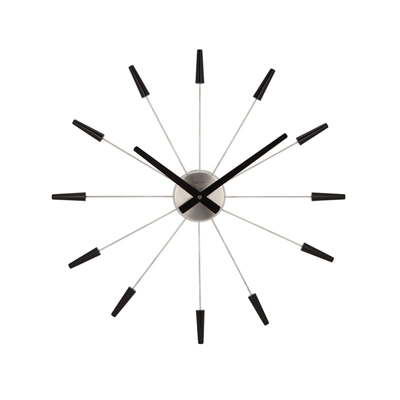 Modern wall clock with a black touch