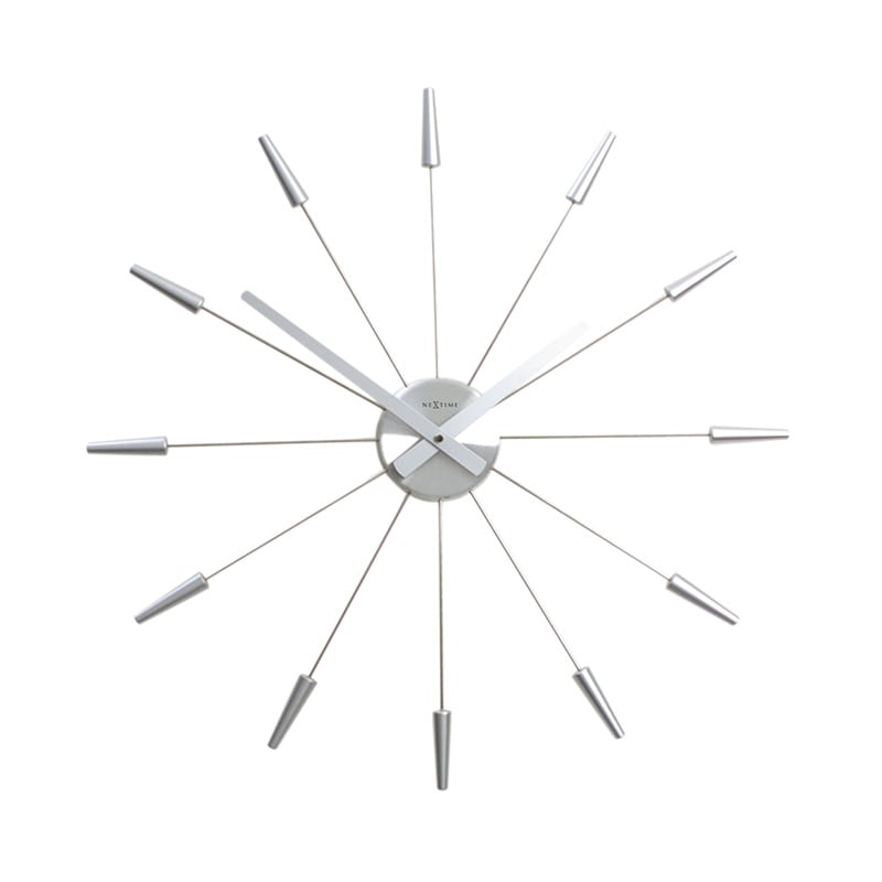 Modern wall clock with silver style