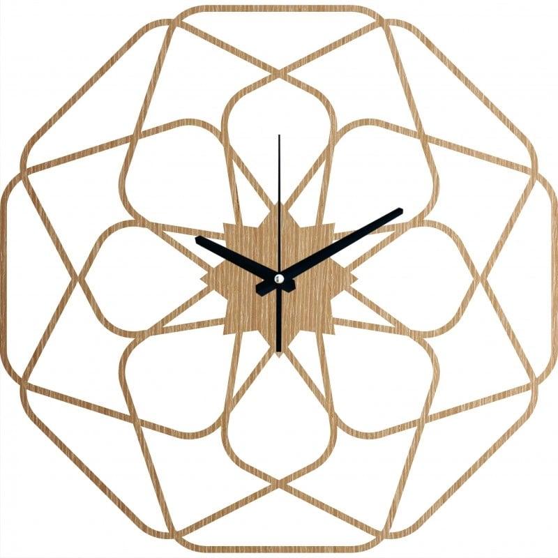 Horloge murale bois star pour une décoration murale contemporaine