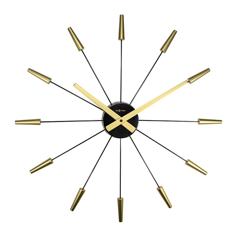 Horloge murale design gold artwall and co for Pendule contemporaine